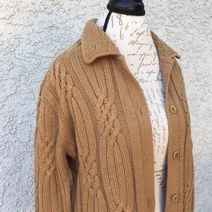 Vintage jones New York cable knit cardigan sweater